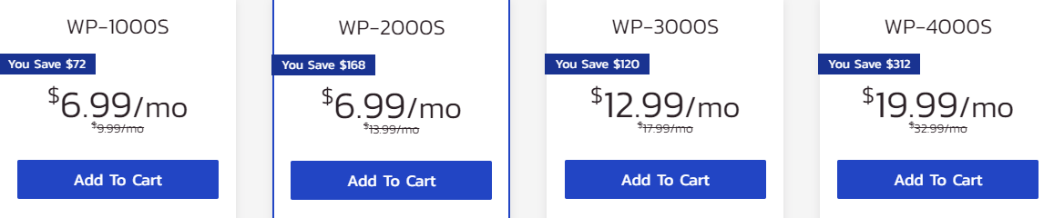 InMotion Hosting WordPress hosting plans pricing