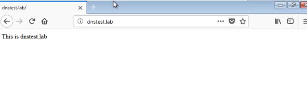 dns - web server