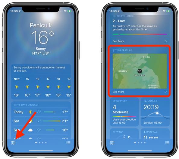 weather app ios15