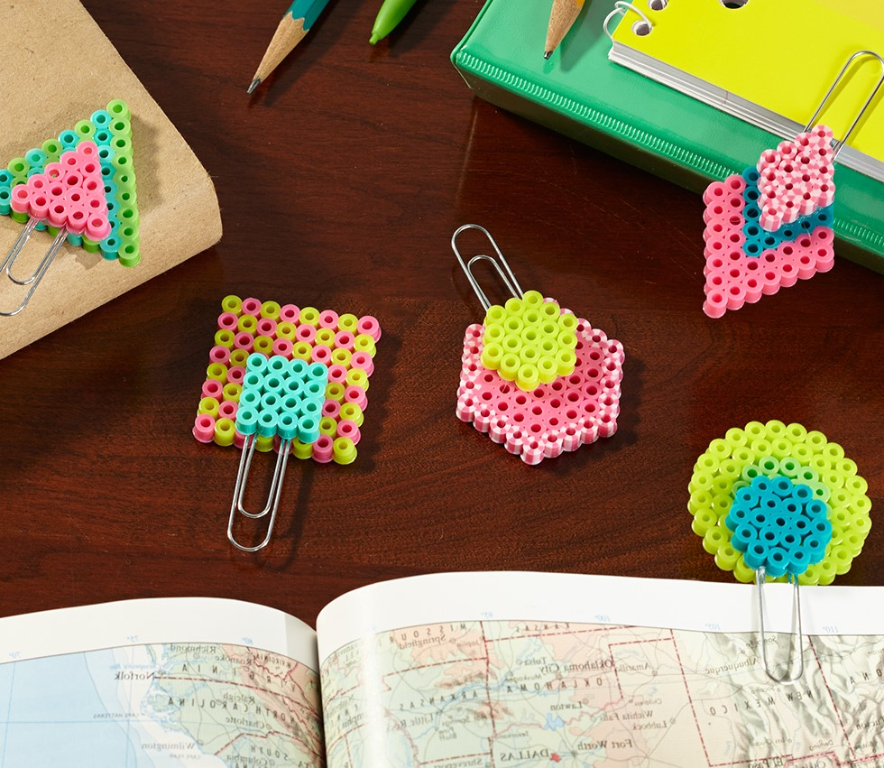 Colorful Paperclip Bookmarks made with beads
