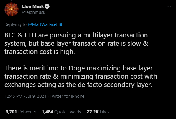 multi layer transaction system  minimizing transaction cost accept bitcoin base layer transaction rate