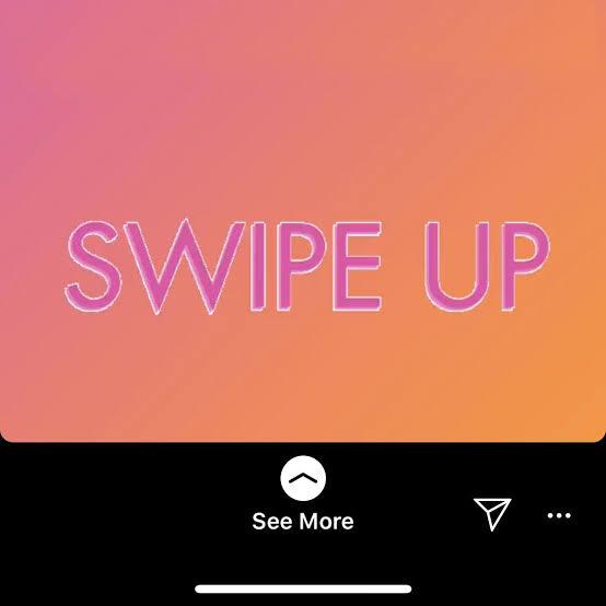 Swipe up CTA in the Instagram story