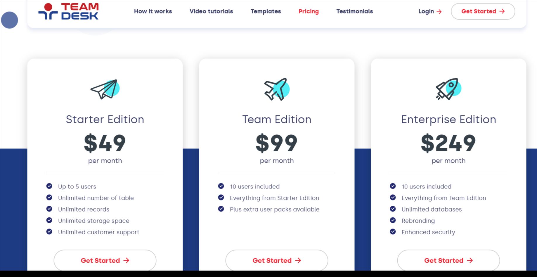 TeamDesk Pricing