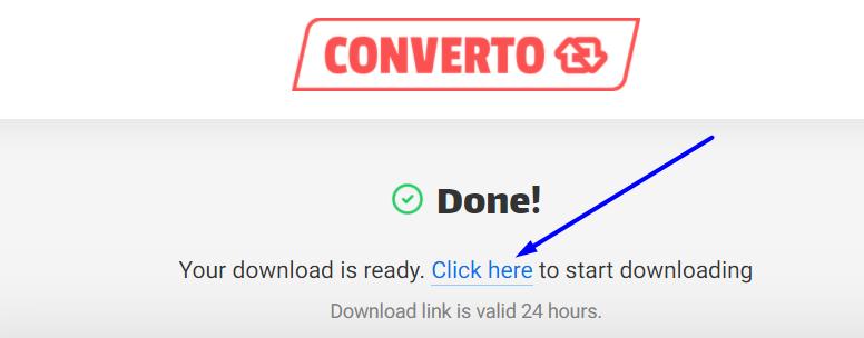 convert.io step 4