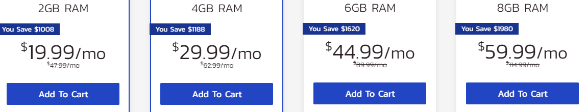 InMotion Hosting managed VPS hosting plans pricing