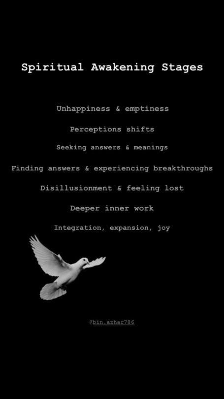 The stages of spiritual awakening https://binazhar.tumblr.com/post/190476371468/spiritual-awakening-stages-1-unhappiness