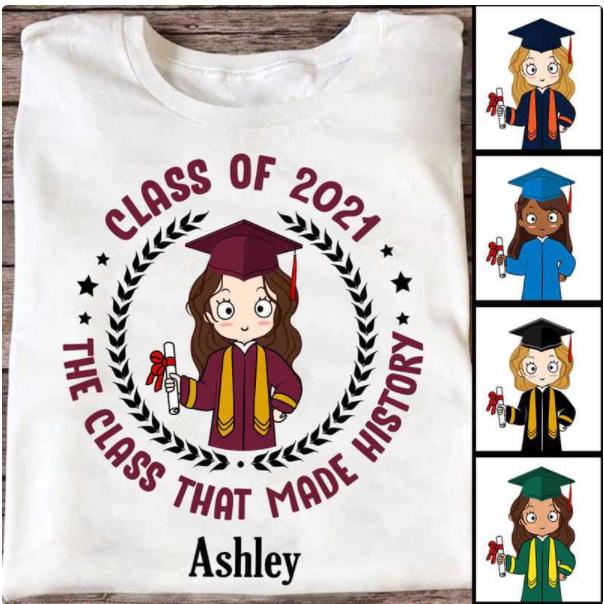 Custom shirts for graduates from Trending Custom