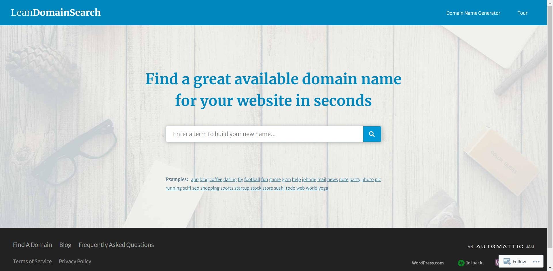 Lean Domain Search Business Name Generator - server name generator