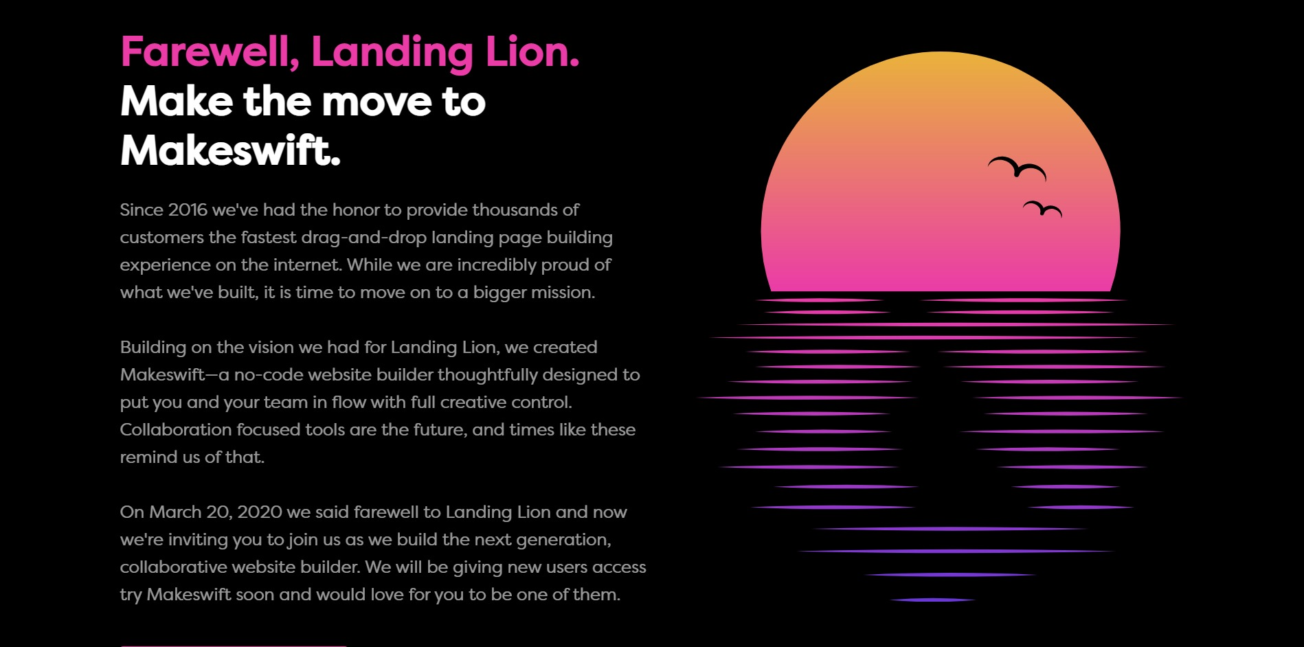 Landing Lion/ Makeswift