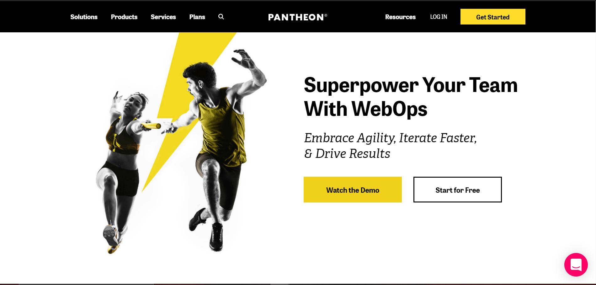 pantheon homepage