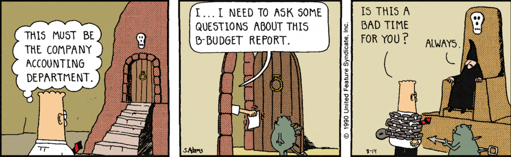 Contrary to popular opinion, good accountants don't treat their clients as interruptions. Image Credit: Dilbert.com