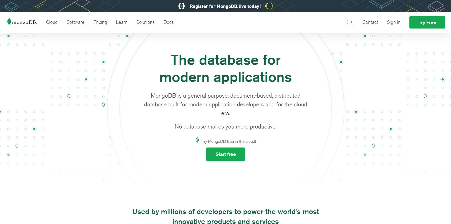 MongoDB Main Page