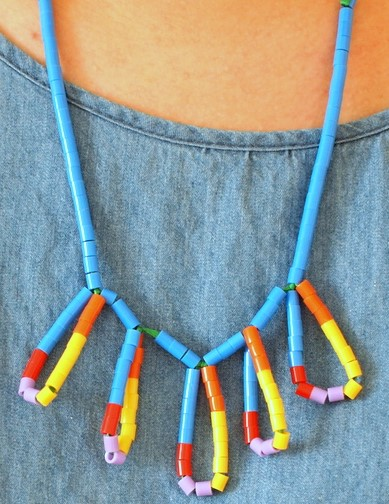 Bead statement necklace fun craft