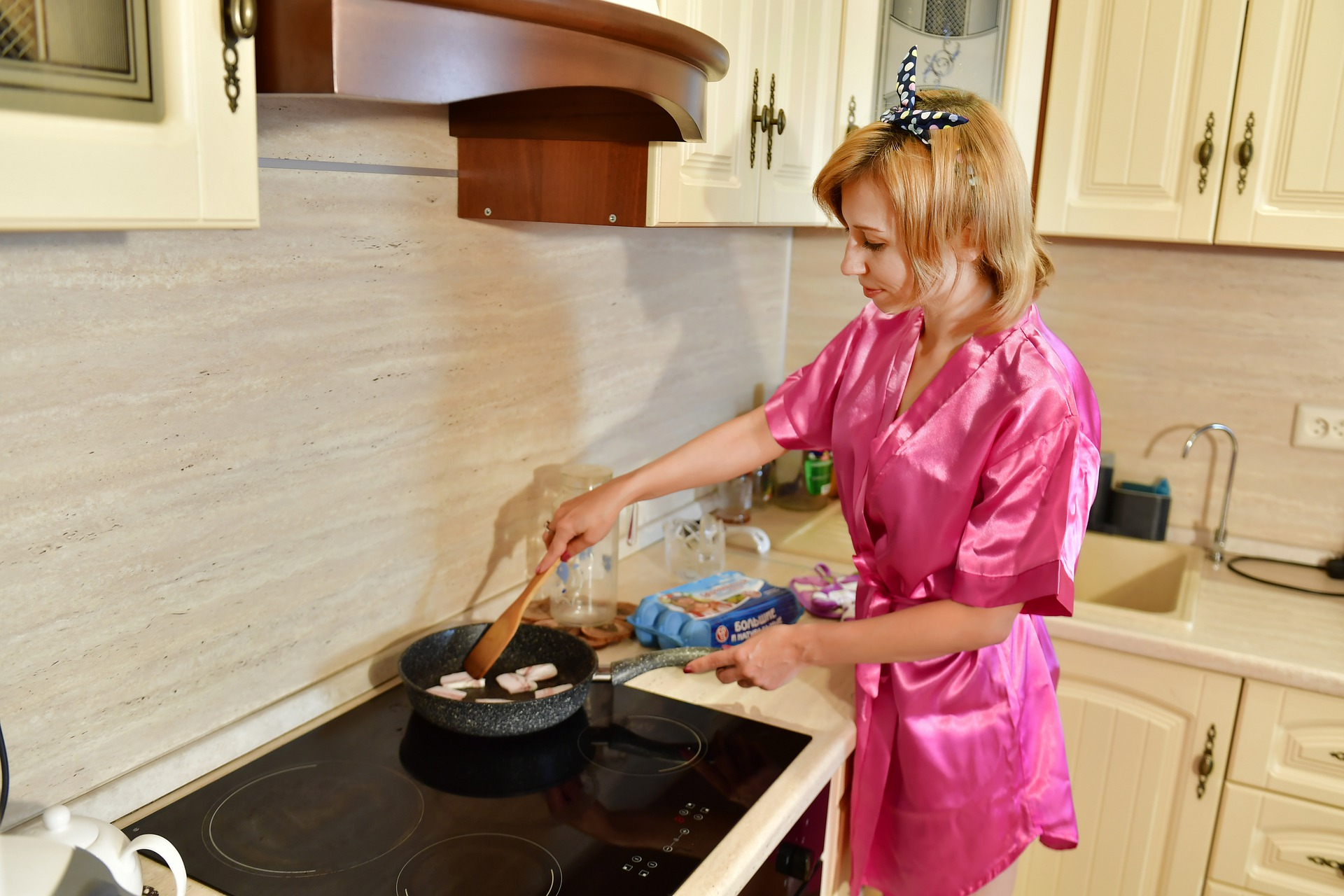 Preparing a meal for your husband