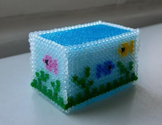 Aquarium Doll House 3D made with Hama Beads