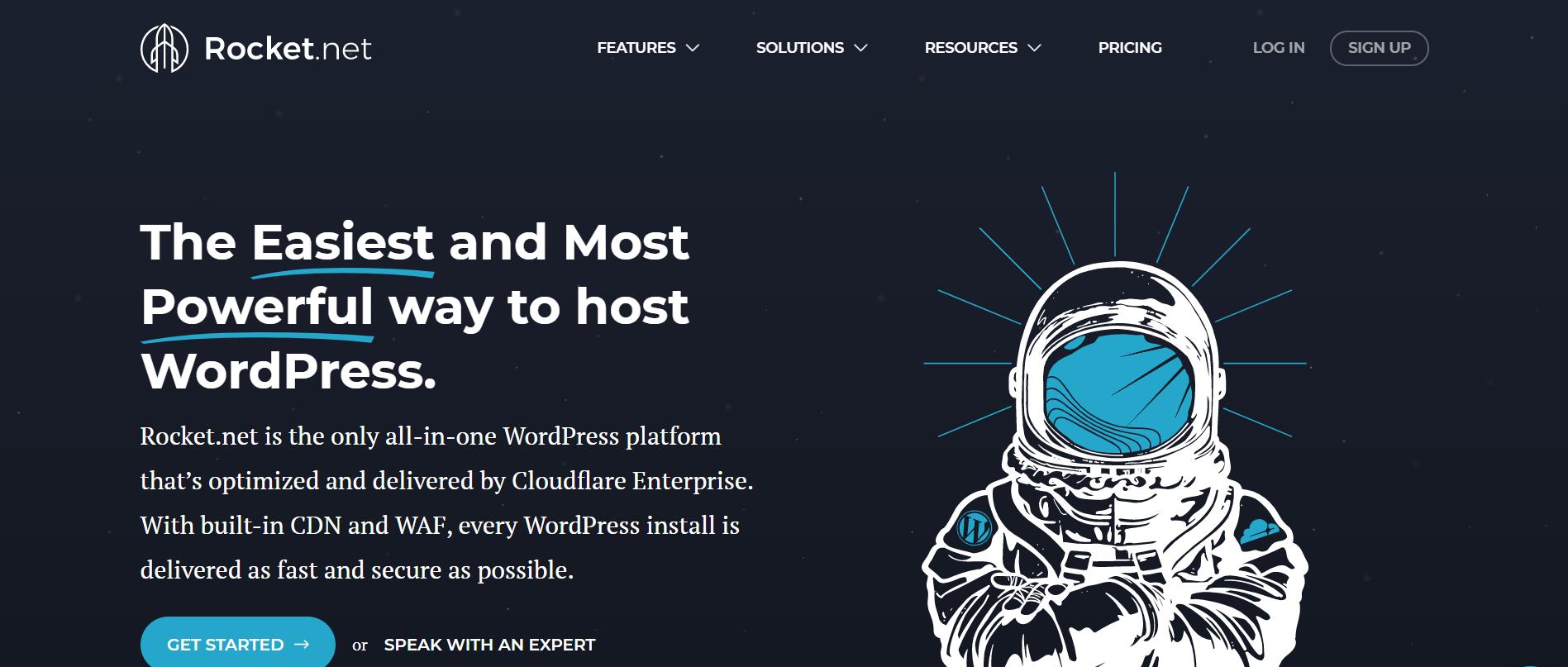 rocket.net homepage