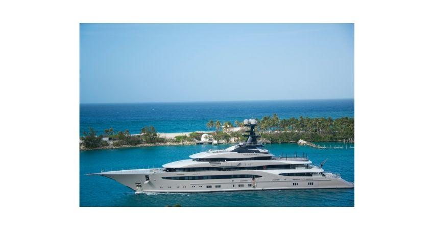 larger interior main deck , motor powered tri deck yacht