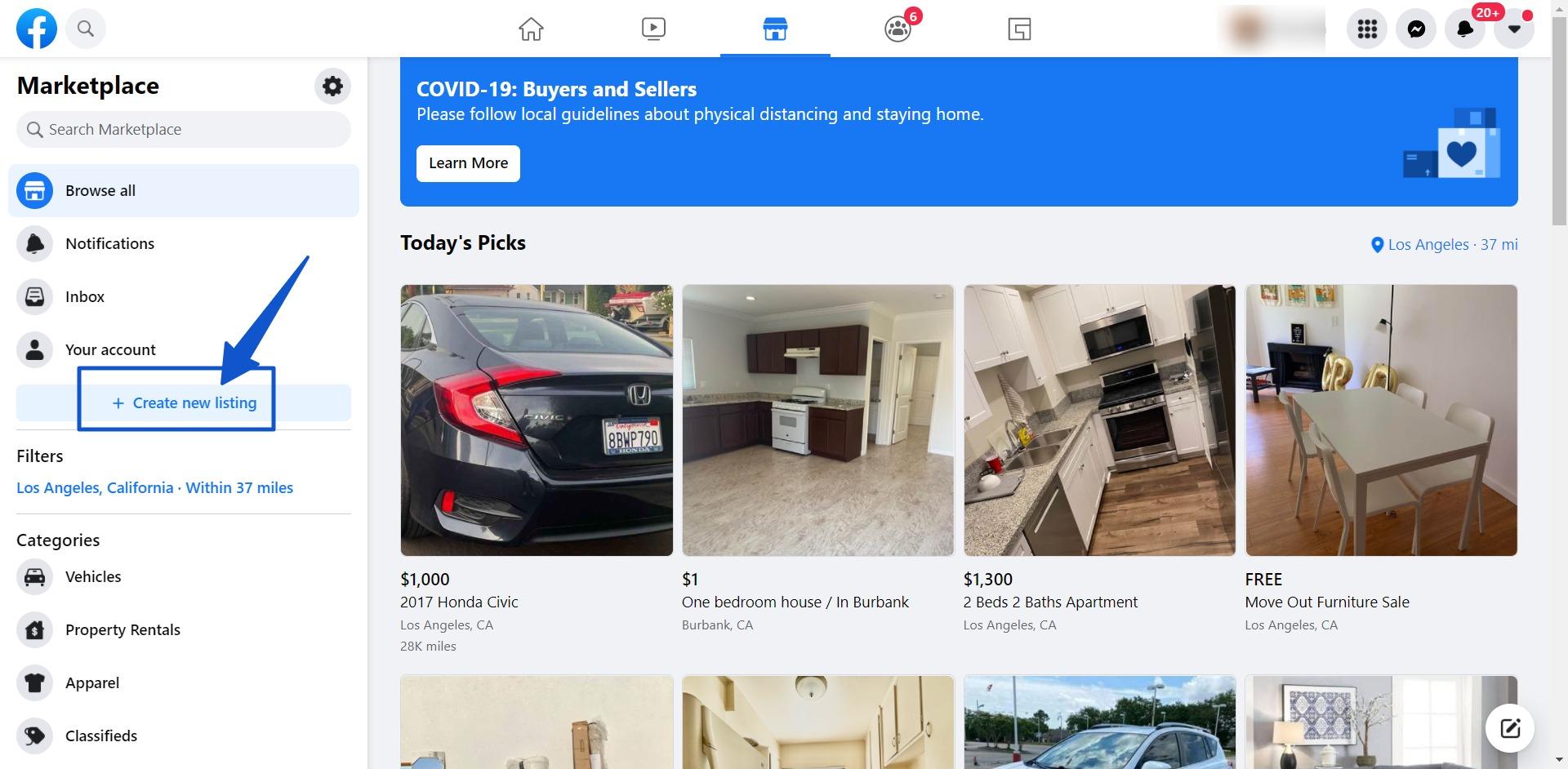 Create new listing