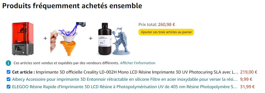 Produits fréquemment achetés ensemble : suggestion à la façon d'Amazon