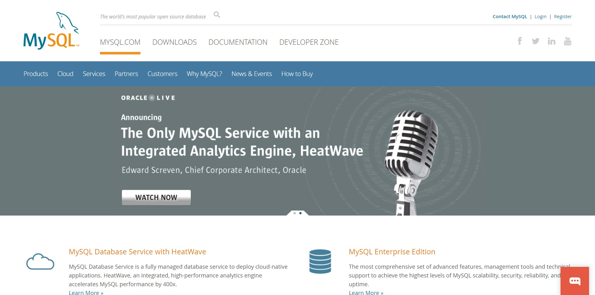MySQL Main Page
