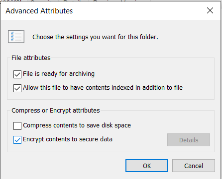 Encrypt content to secure data