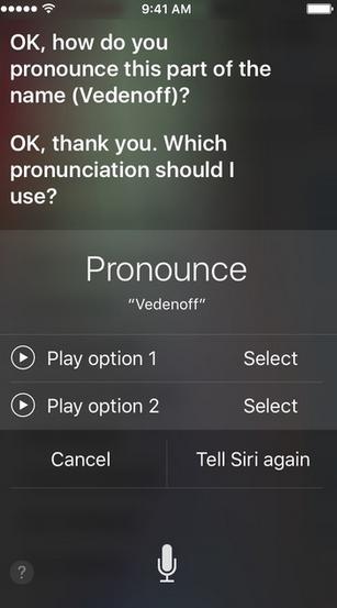 teach siri how to speak