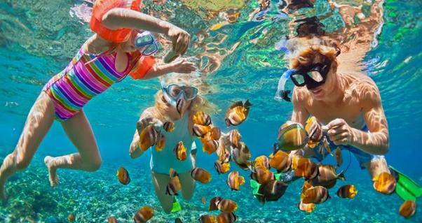 snorkeling, ocean, fun water activity, water sports