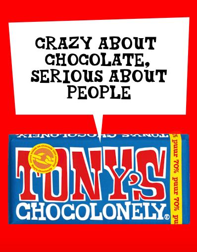 tony's chocolonely slogan
