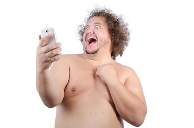 A fat guy taking a selfie https://www.shutterstock.com/image-photo/fat-guy-selfie-487691302