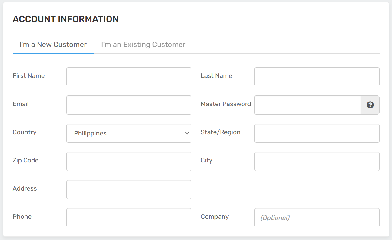 FastCloud Hosting Plans-Account Information | FastComet