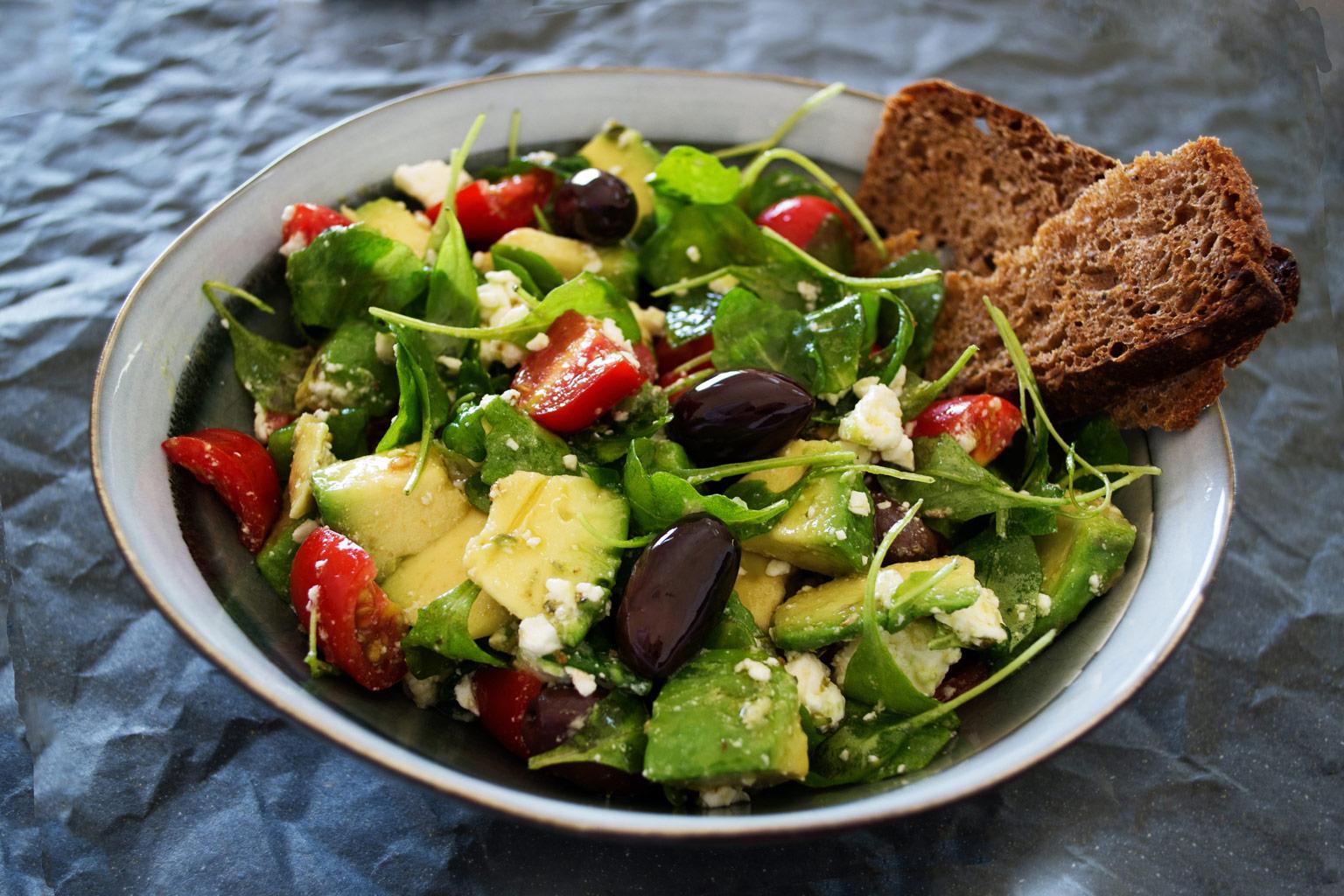 Græsk salat med Kalamata oliven