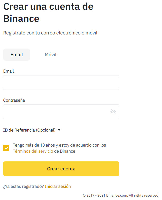 Sign up for Binance Mexico!