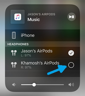 play sound on two airpods
