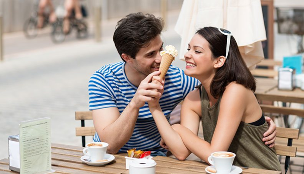 A girl and a guy teasing each other over an ice cream date https://www.lovepanky.com/women/how-to-tips-and-guide-for-women/how-to-be-just-friends