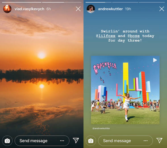 Stories stay on your Instagram profile for 24 hours