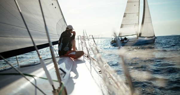 Sailboat,, sailing, sailor