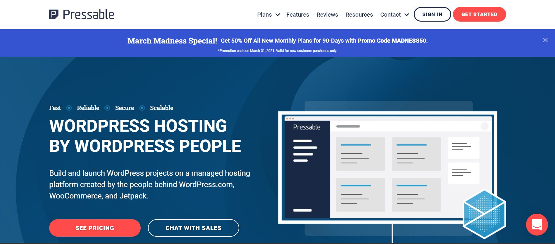 pressable homepage