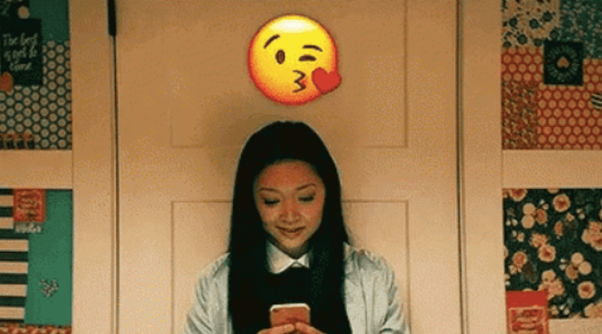 A young girl sending cute texts to her crush https://www.sweetyhigh.com/read/cute-text-messages-for-crush-012219