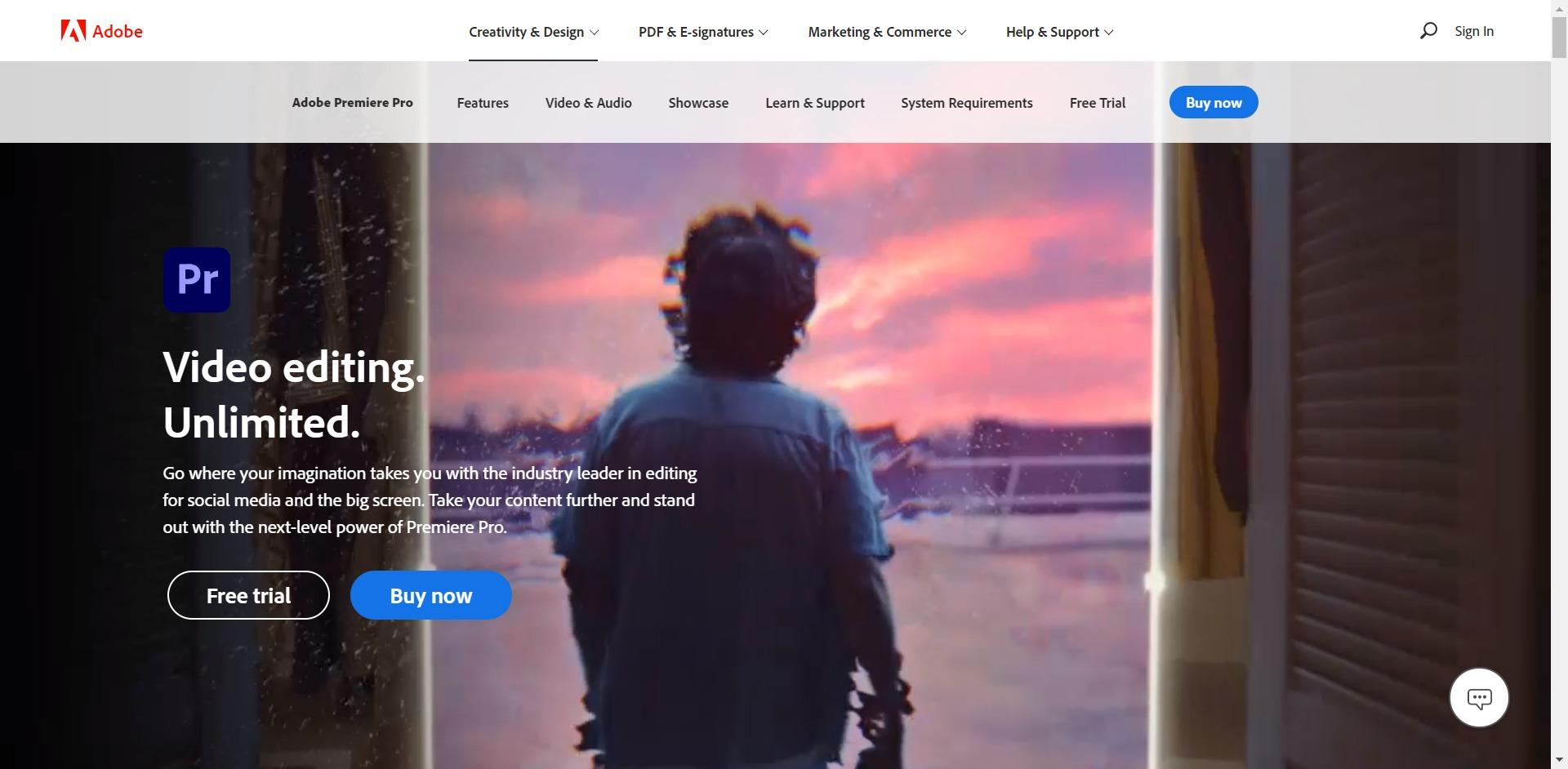 Adobe Premiere Pro CC - Main page