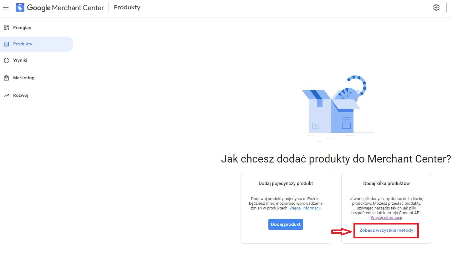 Google Merchant Center - screen