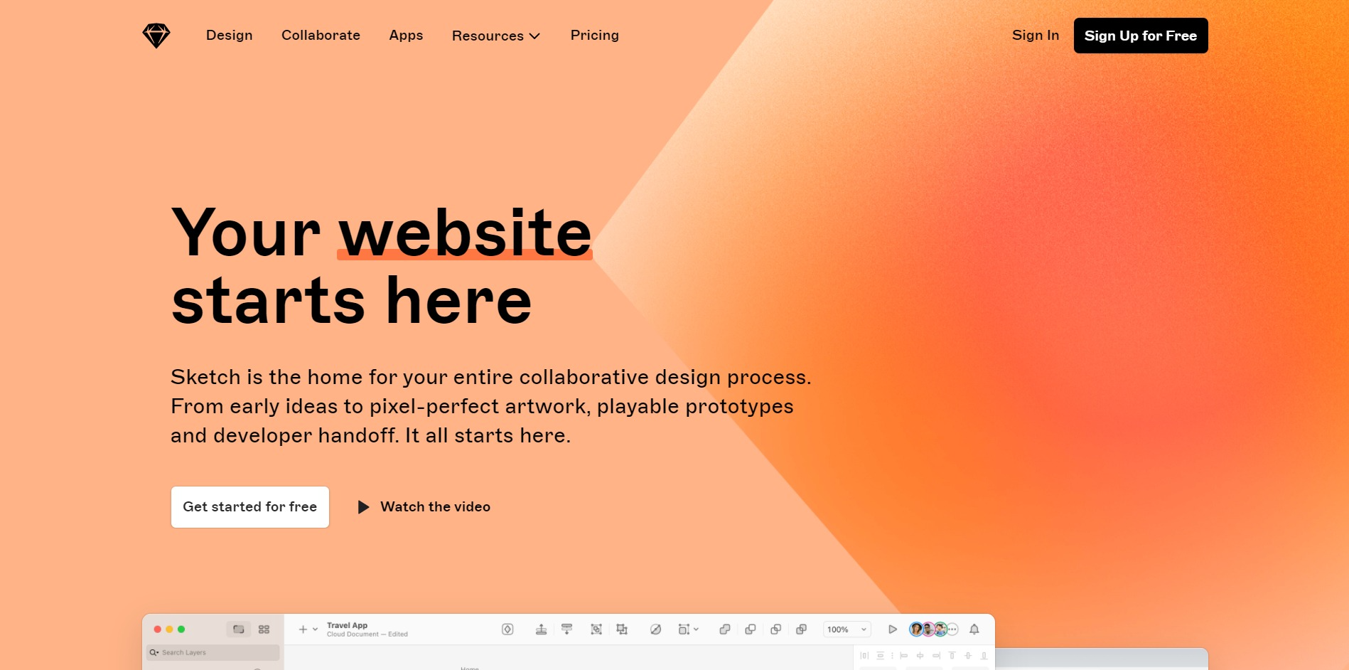Sketch home page