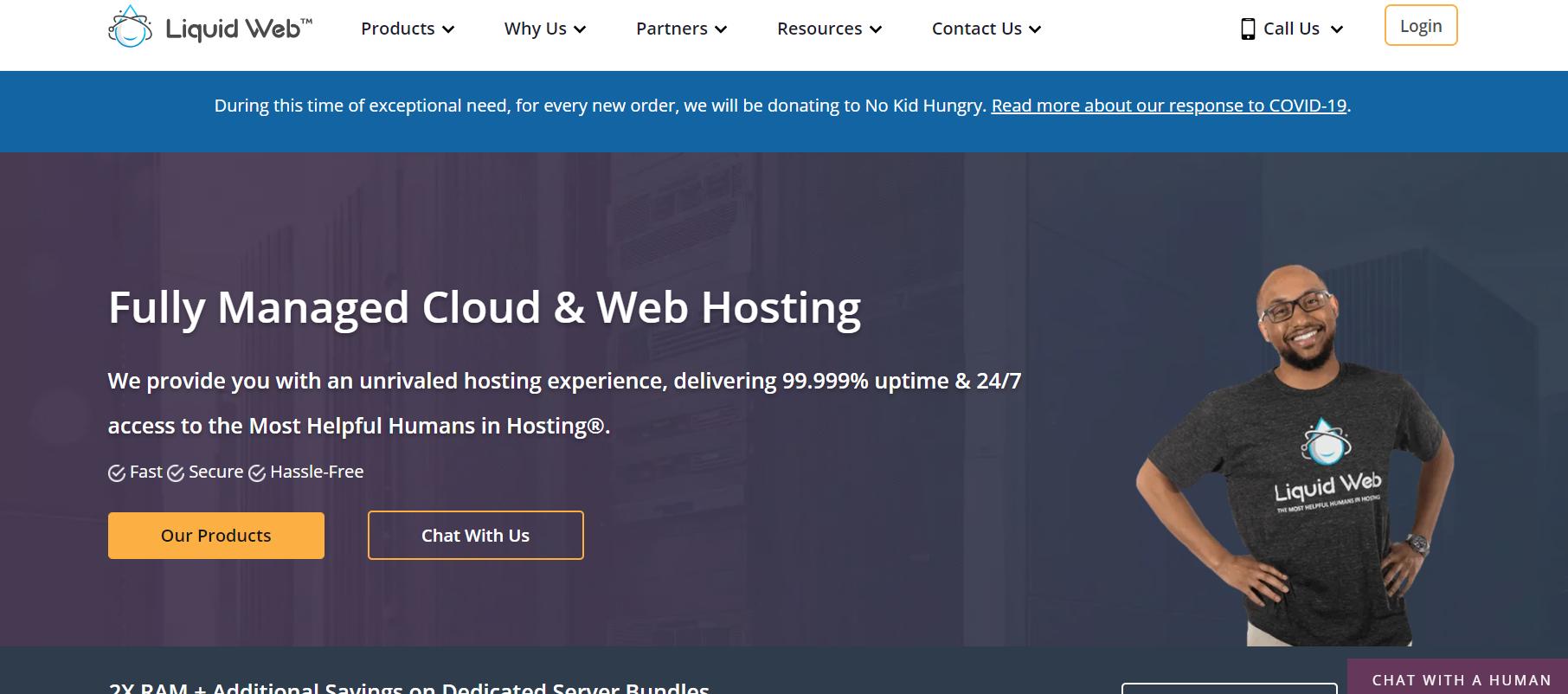 liquidweb homepage