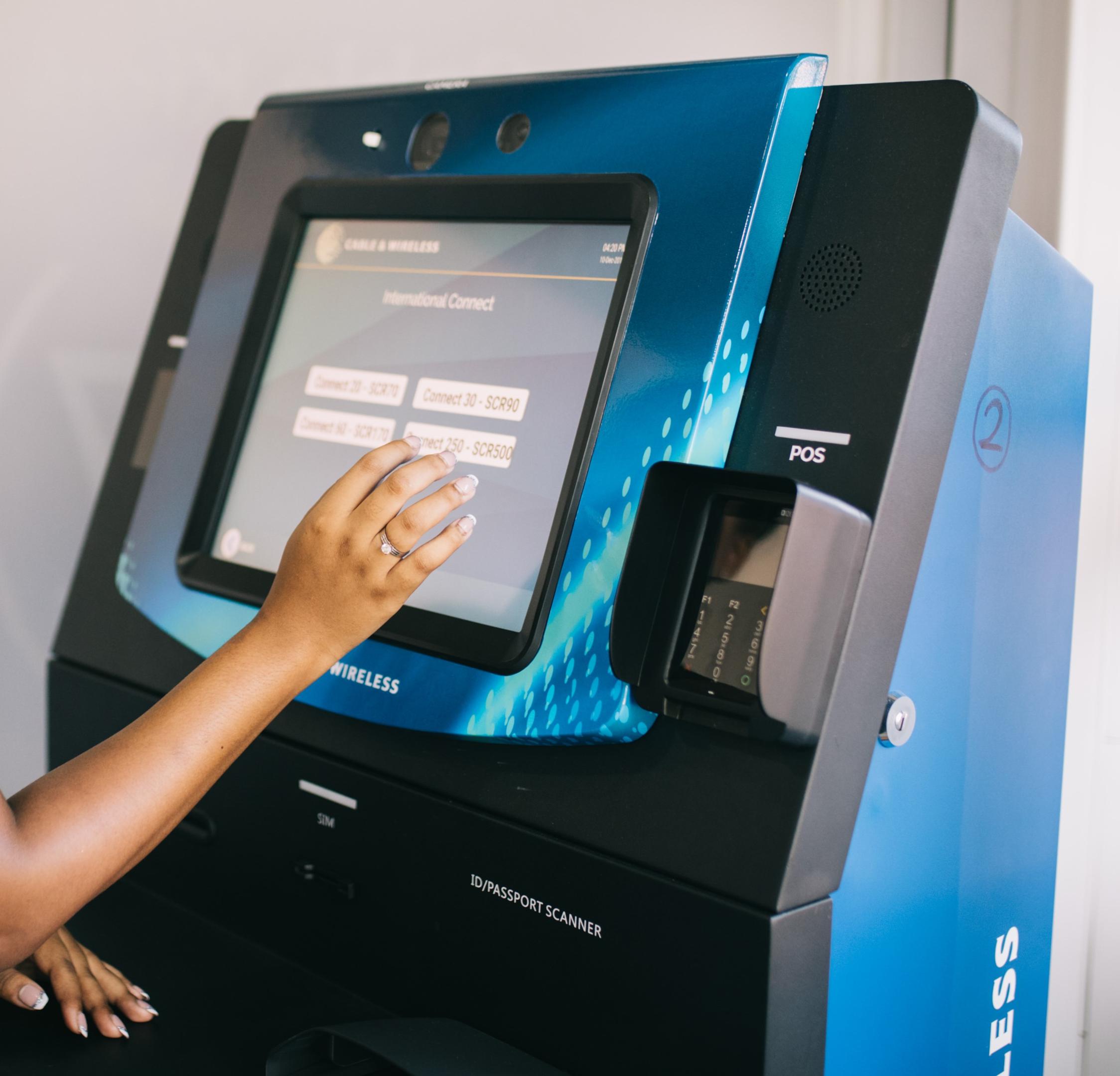 azimut/wavetec sim dispensing kiosk