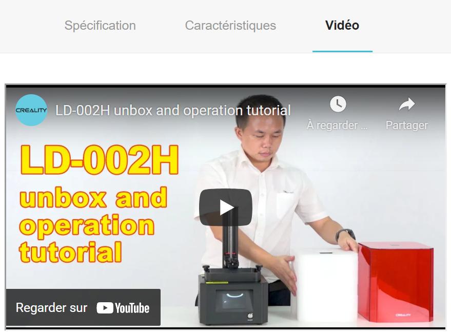 Vidéo de présentation présente dans une fiche produit E-commerce