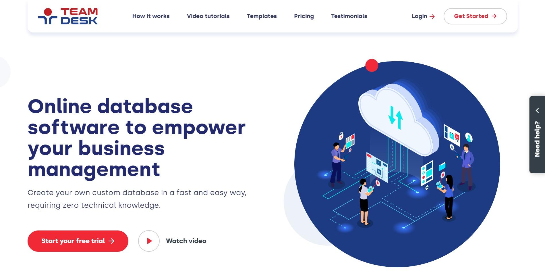 TeamDesk Main Page