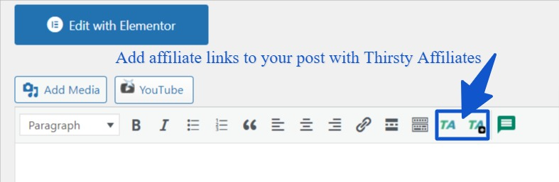 Link cloaking - Add affiliate links to your blog post with Thirsty Affiliates