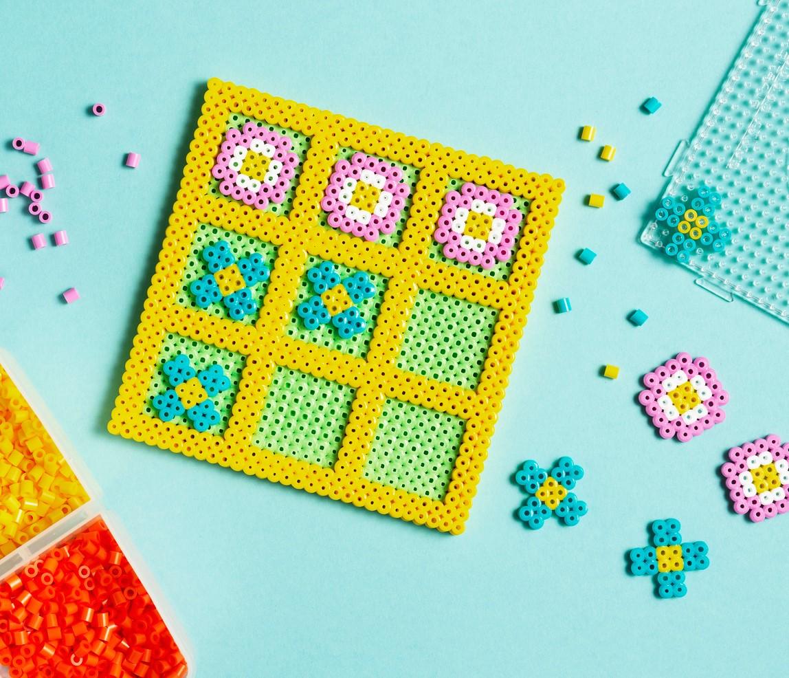 Tik Tac Toe made with Perler beads