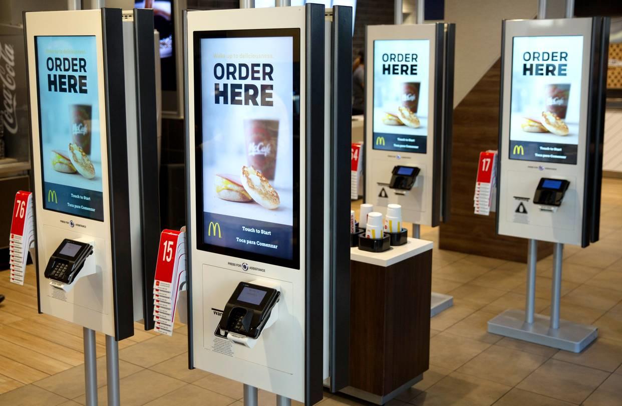 McDonalds Self Ordering Kiosks