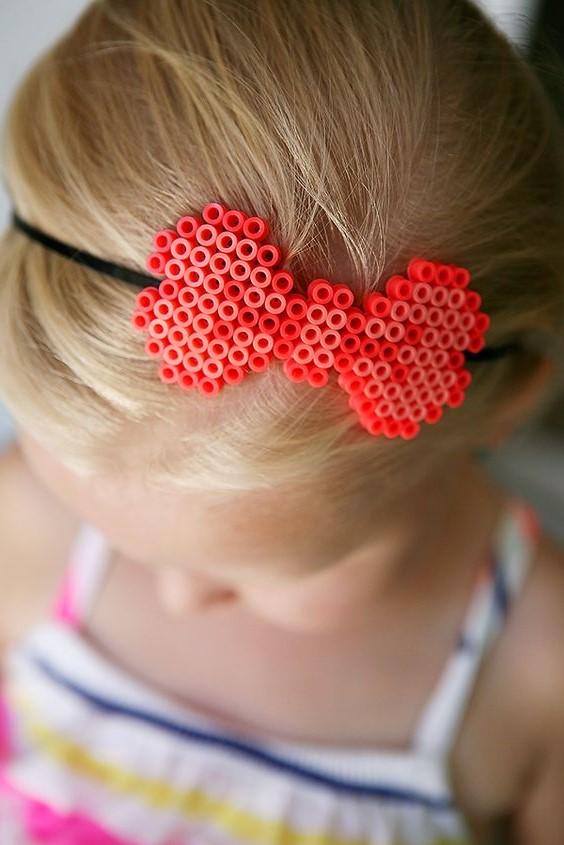 cute girls headband with perler bead pattern