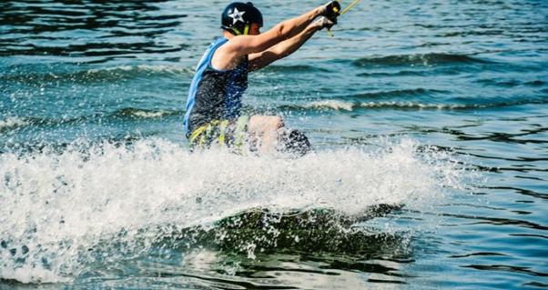 Skiing fun water sport
